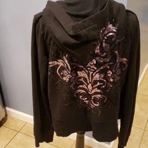 Sequin hoodie sz large